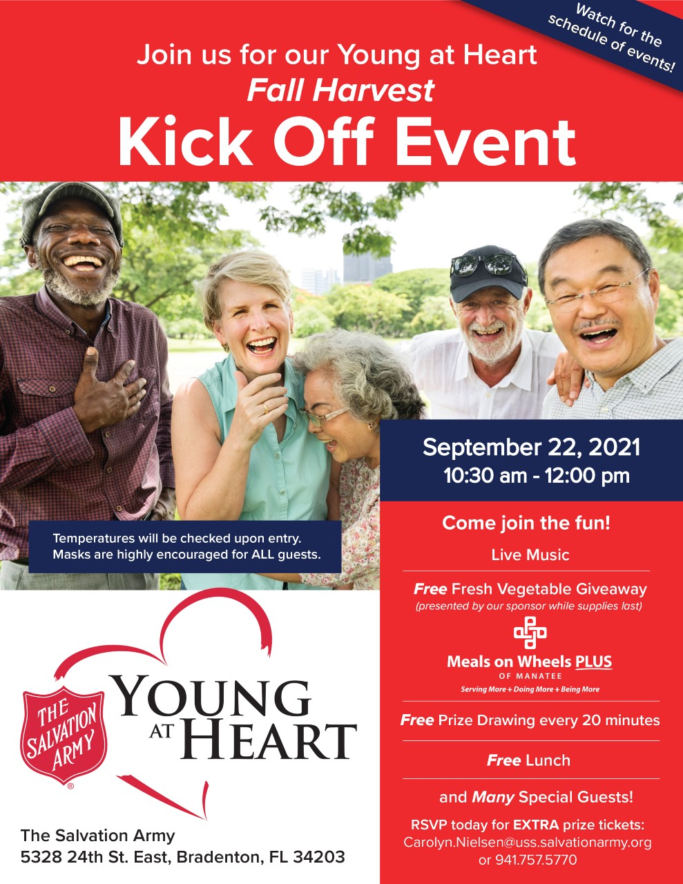 Manatee County Young at Heart program flyer
