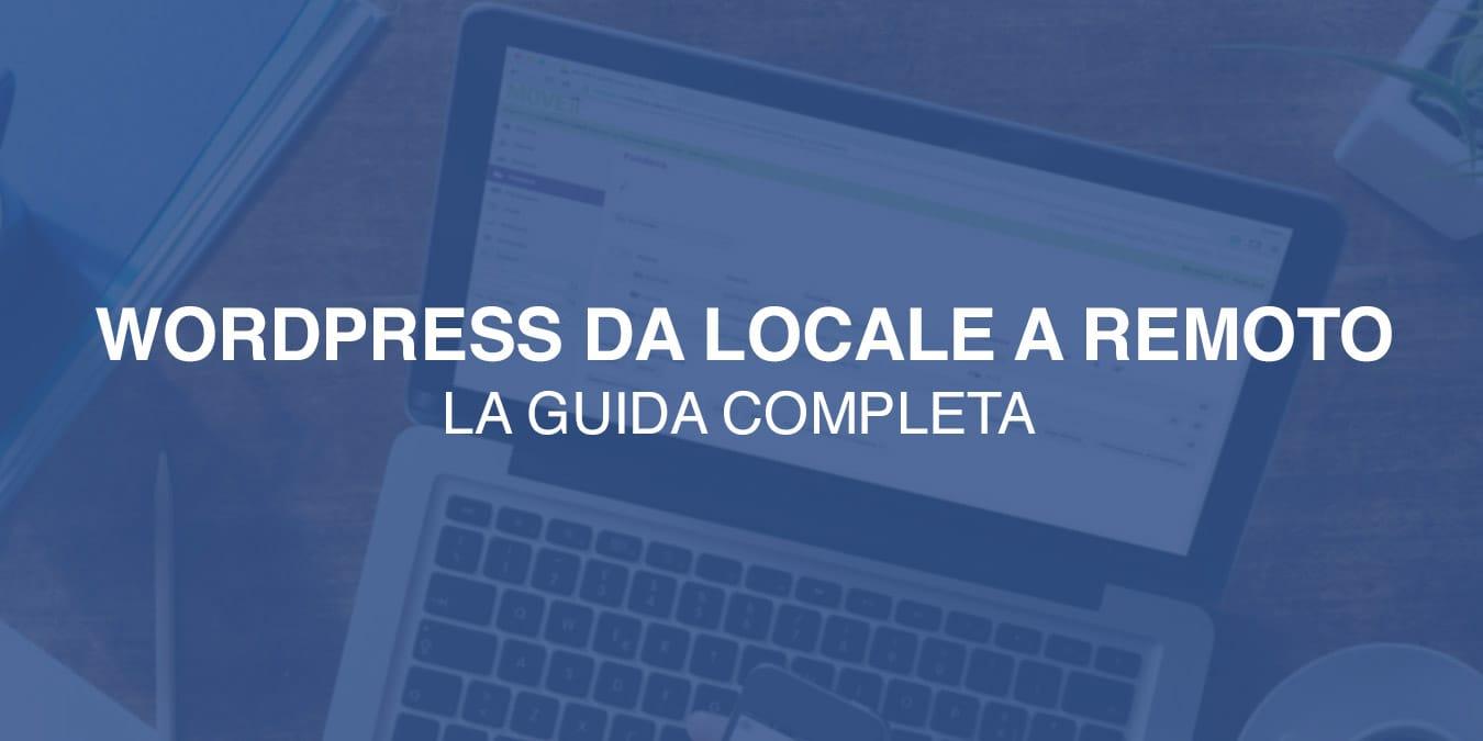 trasferire Wordpress da locale a remoto