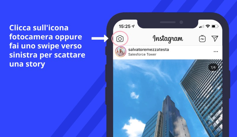 come aprire instagram stories