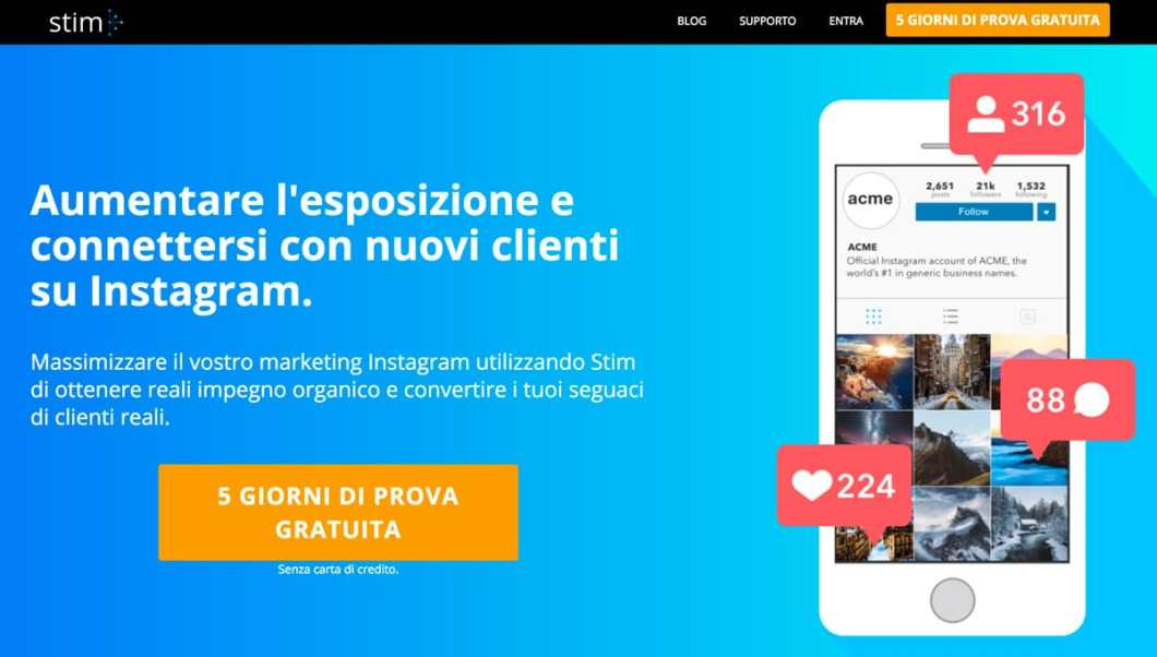 aumentare follower - bot stim social