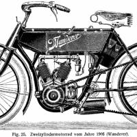 Stemă de la o motocicletă sau maşină germană  WANDERER