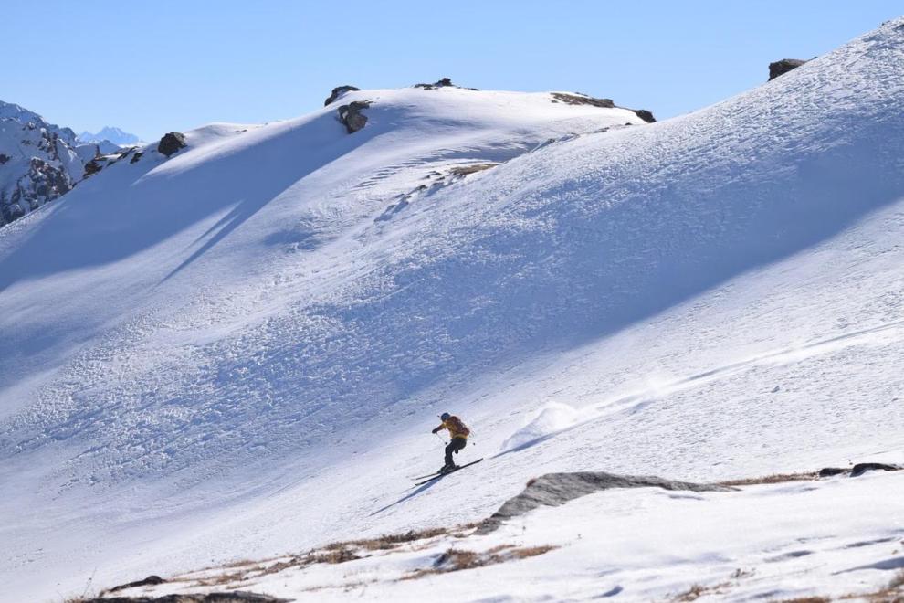 Skiing in himalayas   Kedarkantha - Uttarakhand   India