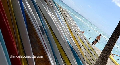 Alquiler de tablas de surf en Waikiki. Honolulu