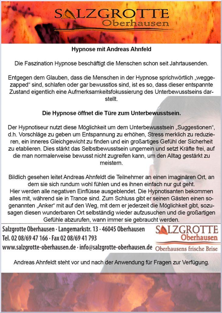 Hypnose mit Andreas Ahnfeld - 2018
