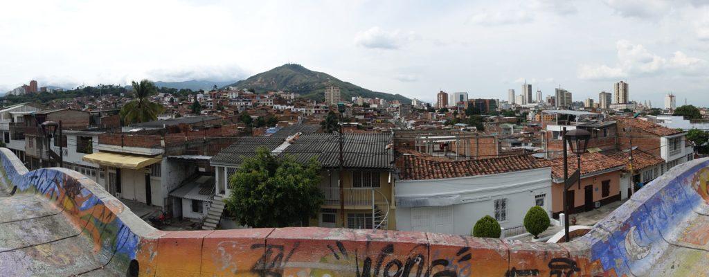 Blick auf 3 Cruzes Hügel