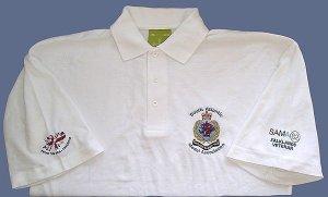 shop veterans polo shirt with SAMA 82 logo