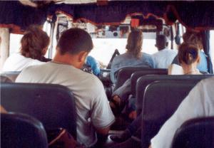 Vu du fond du minibus