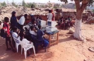 Cyber-café africain