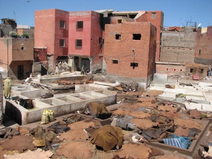 Les tanneries de Marrakech
