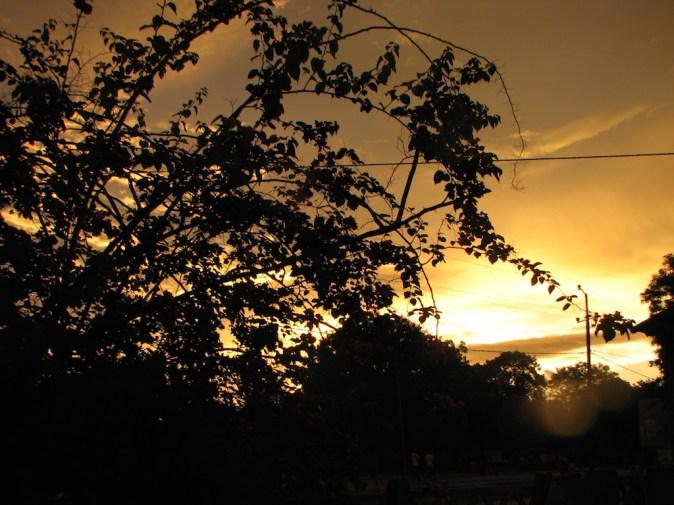 Coucher de soleil sur Bignona