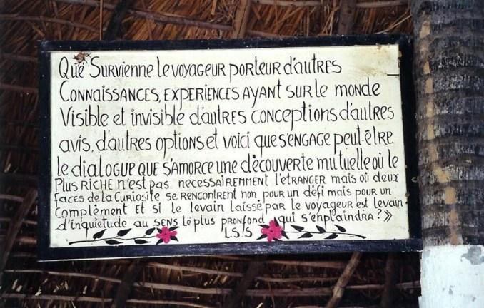 Des éléments de réponse dans cette citation de Senghor, sur les bords du Lac Rose...