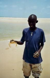 Chasse aux crabes sur la Langue de Barbarie