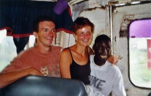 Dans le minibus avec Nyny et Serigne