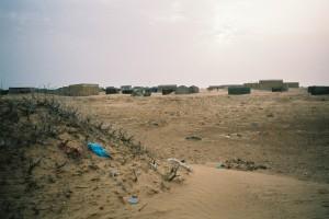 Village maure dans le désert