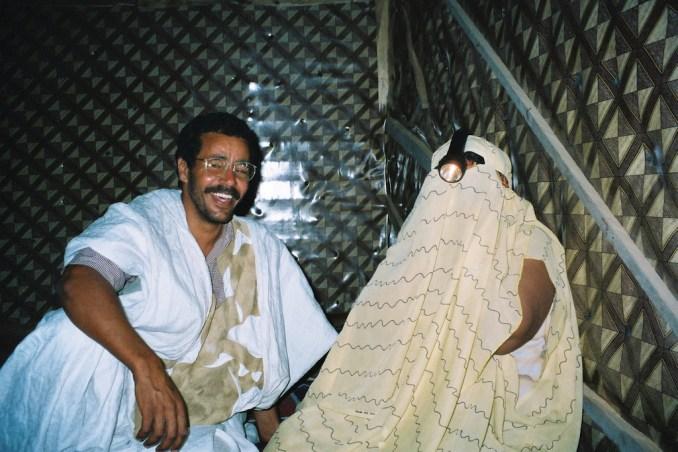 Ahmed et notre hôtesse maure