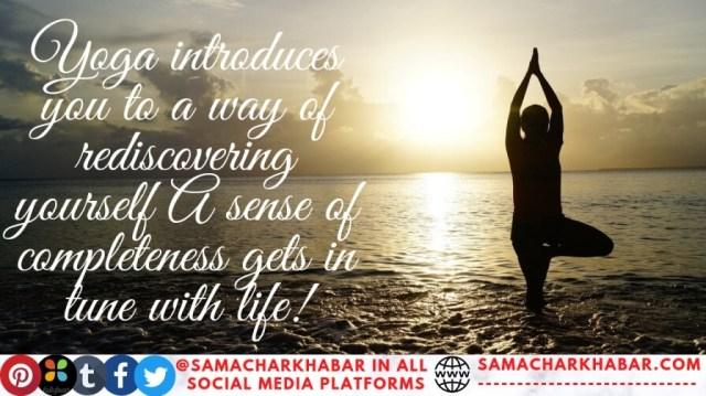 International Yoga Day slogan with photo