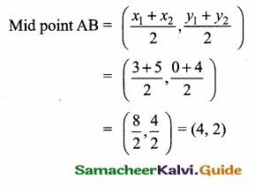 Samacheer Kalvi 10th Maths Guide Chapter 5 Coordinate Geometry Additional Questions 9