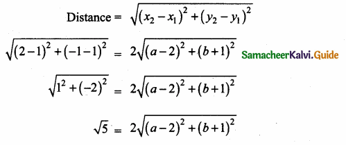 Samacheer Kalvi 10th Maths Guide Chapter 5 Coordinate Geometry Ex 5.2 18