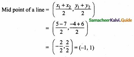 Samacheer Kalvi 10th Maths Guide Chapter 5 Coordinate Geometry Ex 5.4 12