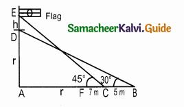 Samacheer Kalvi 10th Maths Guide Chapter 6 Trigonometry Ex 6.2 6