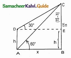 Samacheer Kalvi 10th Maths Guide Chapter 6 Trigonometry Ex 6.2 7