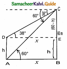 Samacheer Kalvi 10th Maths Guide Chapter 6 Trigonometry Ex 6.3 3