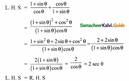 Samacheer Kalvi 10th Maths Guide Chapter 6 Trigonometry Additional Questions 30