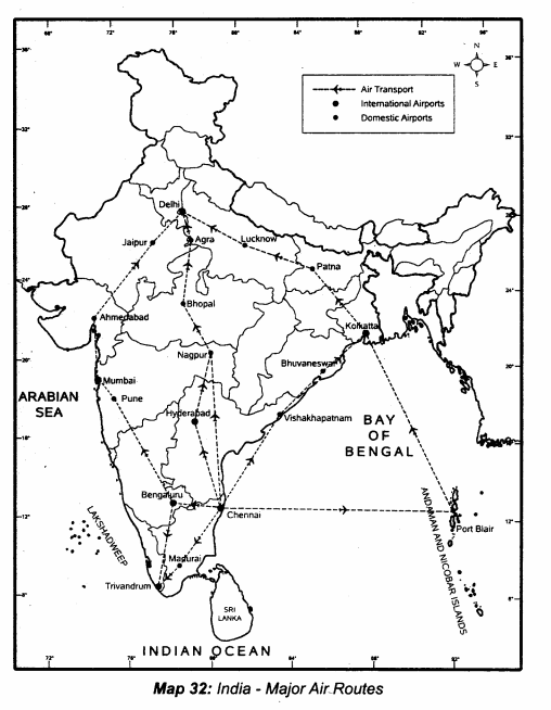 Samacheer Kalvi 10th Social Science Guide Geography Chapter 5 India Population, Transport, Communication, and Trade 5