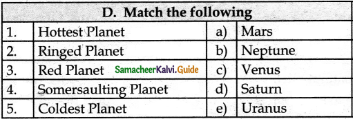 Samacheer Kalvi 6th Social Science Guide Geography Term 1 Chapter 1 The Universe and Solar System