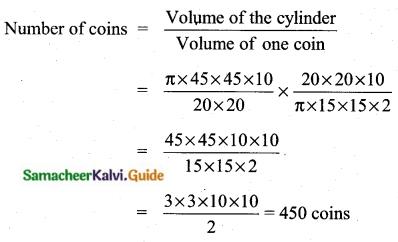 Samacheer Kalvi 10th Maths Guide Chapter 7 Mensuration Unit Exercise 7 Q5.1