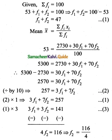 Samacheer Kalvi 10th Maths Guide Chapter 8 Statistics and Probability Additional Questions LAQ 1.2