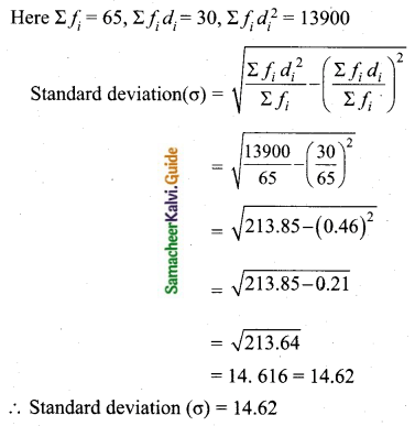Samacheer Kalvi 10th Maths Guide Chapter 8 Statistics and Probability Ex 8.1 Q11.2