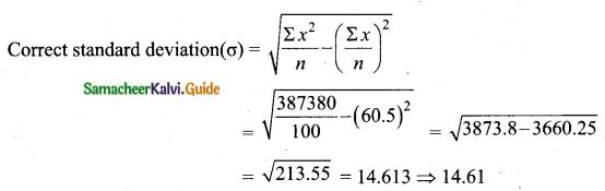 Samacheer Kalvi 10th Maths Guide Chapter 8 Statistics and Probability Ex 8.1 Q14.1