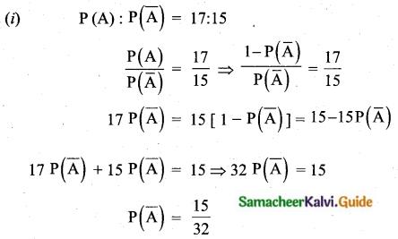 Samacheer Kalvi 10th Maths Guide Chapter 8 Statistics and Probability Ex 8.3 Q3