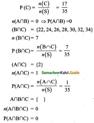 Samacheer Kalvi 10th Maths Guide Chapter 8 Statistics and Probability Ex 8.4 Q14