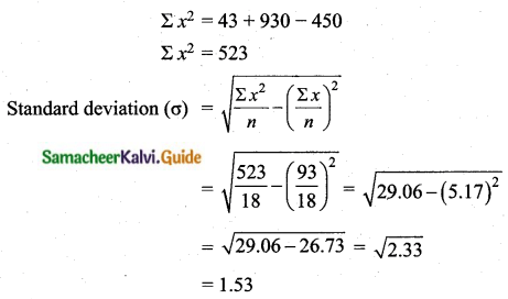 Samacheer Kalvi 10th Maths Guide Chapter 8 Statistics and Probability Unit Exercise 8 Q5.1