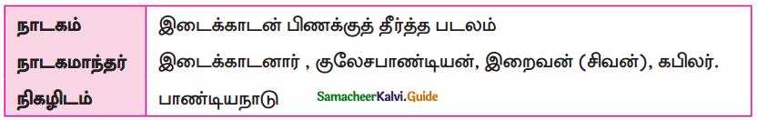 Samacheer Kalvi 10th Tamil Guide Chapter 5.3 திருவிளையாடற் புராணம் - 1