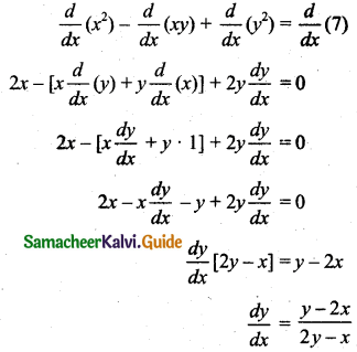 Samacheer Kalvi 11th Business Maths Guide Chapter 5 Differential Calculus Ex 5.6 Q1.2