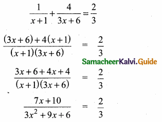 Samacheer Kalvi 10th Maths Guide Chapter 3 Algebra Additional Questions 58