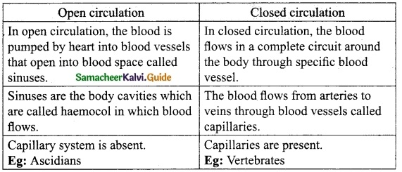 Samacheer Kalvi 10th Science Guide Chapter 14 Transportation in Plants and Circulation in Animals 7
