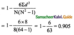 Samacheer Kalvi 11th Business Maths Guide Chapter 9 Correlation and Regression Analysis Ex 9.1 Q9.3