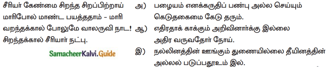 Samacheer Kalvi 12th Tamil Guide Chapter Chapter 6.7 திருக்குறள் 3