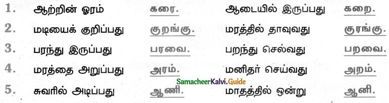 Samacheer Kalvi 5th Tamil Guide Chapter 8.4 மயங்கொலிச் சொற்கள் - 1