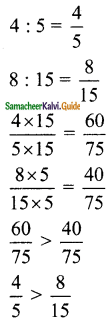 Samacheer Kalvi 6th Maths Guide Term 1 Chapter 3 Ratio and Proportion Ex 3.2 5