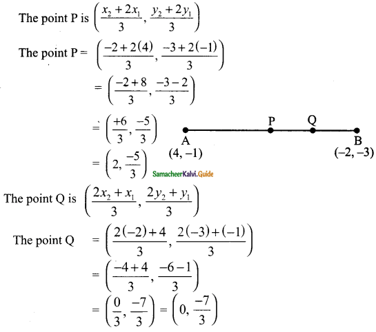 Samacheer Kalvi 9th Maths Guide Chapter 5 Coordinate Geometry Additional Questions 7