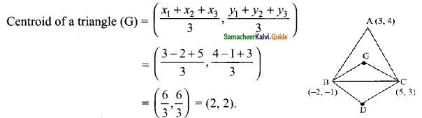 Samacheer Kalvi 9th Maths Guide Chapter 5 Coordinate Geometry Ex 5.5 10