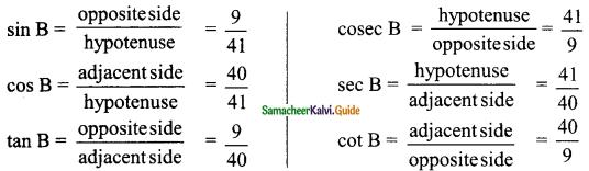 Samacheer Kalvi 9th Maths Guide Chapter 6 Trigonometry Ex 6.1 2