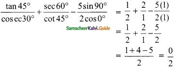 Samacheer Kalvi 9th Maths Guide Chapter 6 Trigonometry Ex 6.2 4