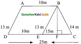 Samacheer Kalvi 9th Maths Guide Chapter 7 Mensuration Additional Questions 1