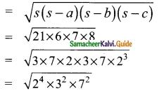 Samacheer Kalvi 9th Maths Guide Chapter 7 Mensuration Ex 7.1 9